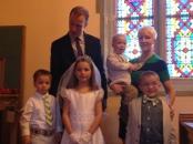 La Famiglia: Chris, Kieran, Teresa, Augustine, Cecilia, Finnian
