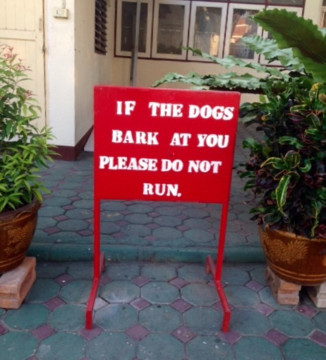 Sign outside the neighborhood wat.