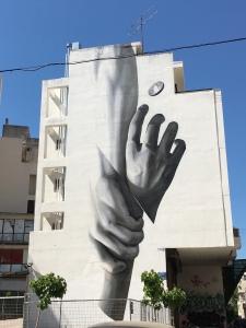 Exarchia building-high grafitti