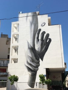 Exarchia building-high grafitti