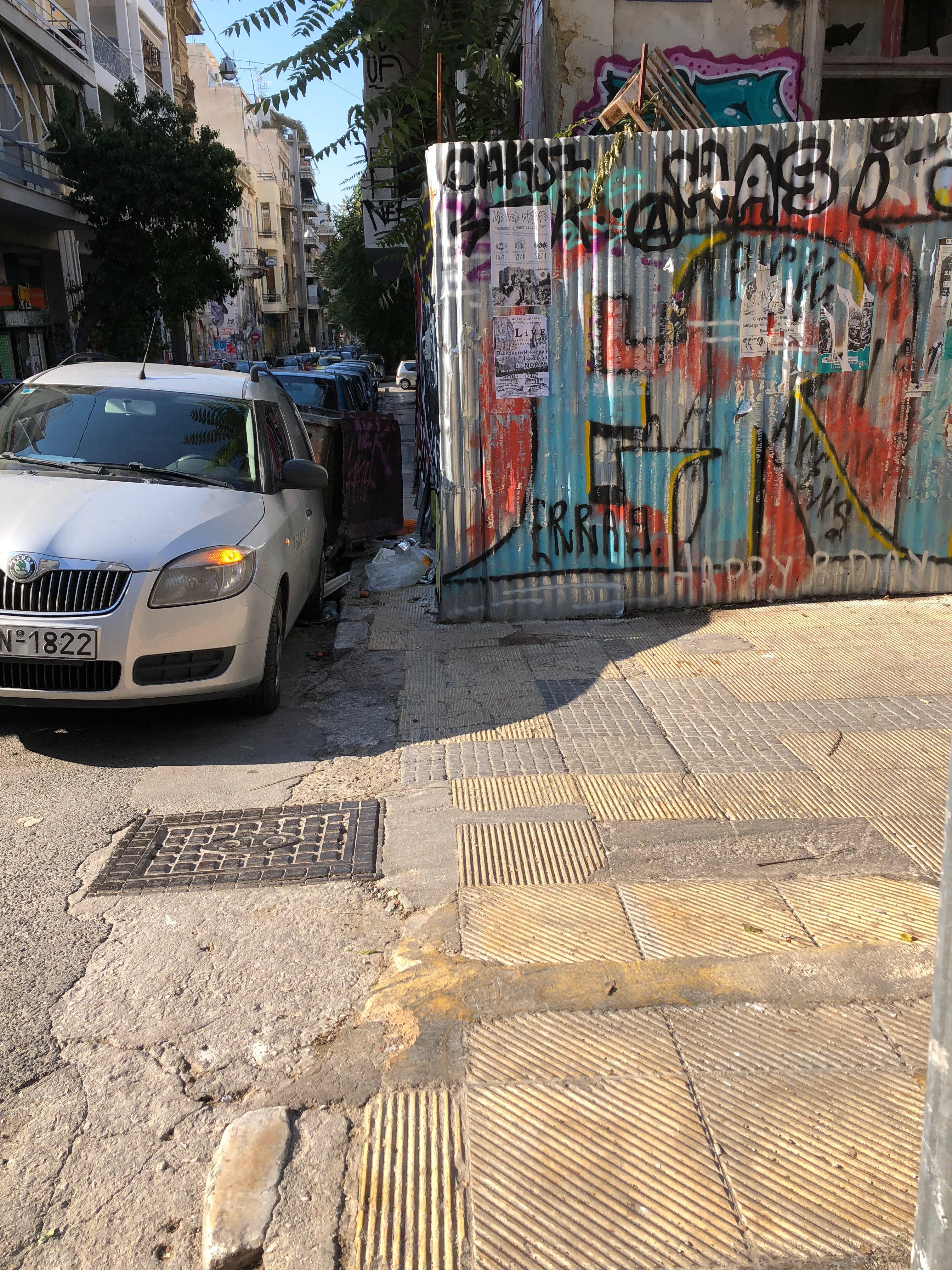 Exarchia sidewalk